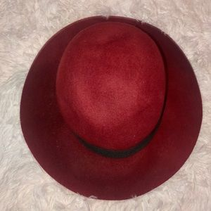 Maroon and black hat - will make offer